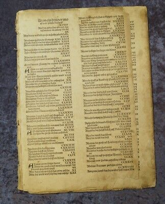 Register 8 Blätter Original Schedel Weltchronik 1493 #c062