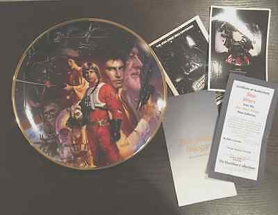 Limited Ed. Hamilton Collection Luke Skywalker STAR WARS Star Wars Trilogy Plate