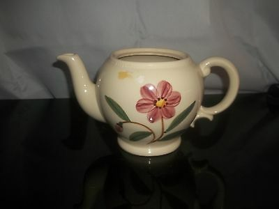 Vintage SHAWNEE TEAPOT Cream Color with Pink Flower on Sides  No Lid