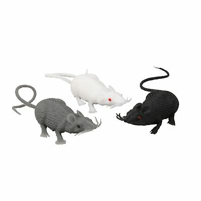 Rubber Mouse Mice Toy Gift Novelty Joke Prank Kids Childs Pocket Money