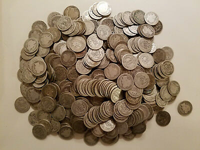 (1) $.10 1892-1916 Barber Dime U.S. Coin Classic AG/Better 90% Silver