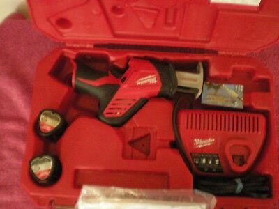 MILWAUKEE 2420-20 Hackzall 12V. Recipro. Saw W/ 2-battries Charger & Case ++.