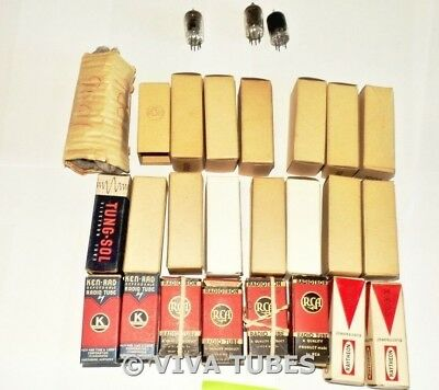 RCA Ken-Rad Tung-Sol Mixed USA 9001 Lot Of 27 Type 9001 Vacuum Tubes Most NIB