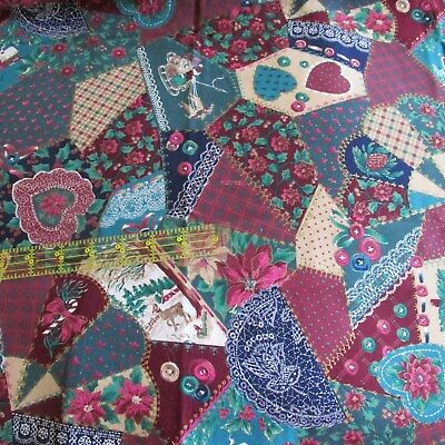 Kessler CHRISTMAS CALICO ORNAMENTS PATCH Cotton Fabric Quilt-Crafts-Doll BTHalfY