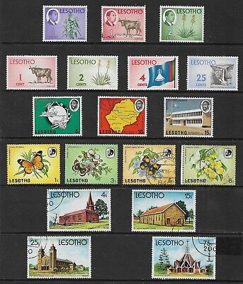 LESOTHO mixed collection No.1, used, CTO, mint