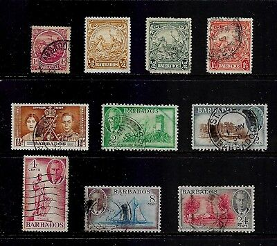 BARBADOS mixed collection No.3, 1921 1937 1938 1950, mostly used