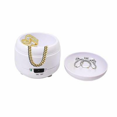 Ultrasonic Bath Compact Jewellery Ring Watch Dentures Coin Gold Cleaner Cleaning