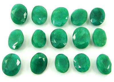between 6ct-7ct Natural Green Emerald Loose Gemstone Oval shape! GENUINE QUALITY