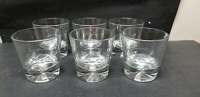 6 Johnnie Walker Diamond Base Double Old Fashioned Rocks Glasses