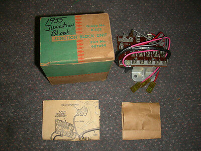 1955 Chevy NOS Junction Fuse Panel Complete Kit with Screws and Instructions