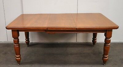 Lovely Antique Edwardian Kauri Pine & Blackwood Extension Dining Table  c1910