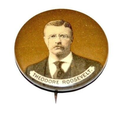 1904 THEODORE ROOSEVELT TEDDY campaign pin pinback button political presidential