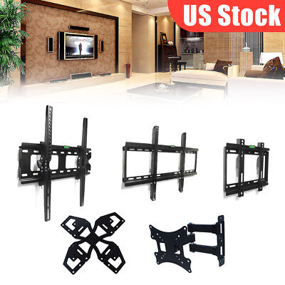 "TV Wall Mount Plasma Flat Tilt Bracket For 14-70 "" Inch US Stock Fast Shipping"