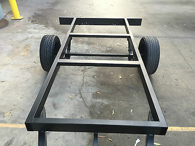 Brand new budget unpainted no wiring Tray top Trailer chassis to SUIT 9X6FT TRAY