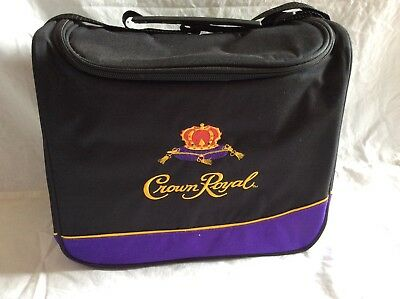 """CROWN ROYAL Insulated Tote Bag Soft Sided Cooler 12""""x11""""x 6"""" W/Adjustable Strap"""