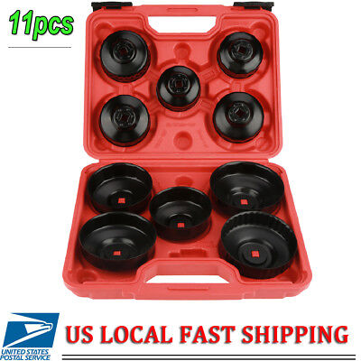 11pcs Oil Filter Housing Tool Remover Cap Wrench 14F - 36F For Most Vehicles