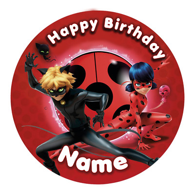 EDIBLE Miraculous Ladybug Cake Topper Birthday Party Wafer Paper 19cm (uncut)