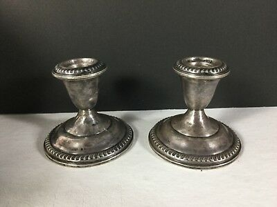 Vintage Empire Sterling Weighted Candlesticks Candle Holders