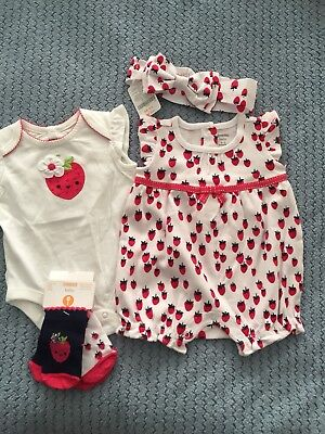 NWT Gymboree Birds and Flowers BodySuit Top Baby Girl 5lbs,0-3m