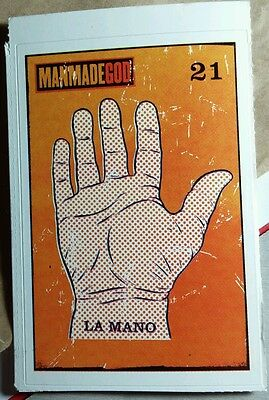 MANMADE 21 GOD LA MANO HAND PANN Q&A ON BACK MUSIC 3x4 STICKER