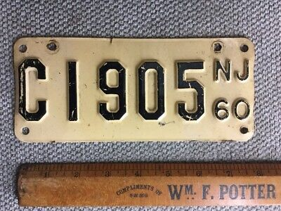 1960 New Jersey motorcycle license plate