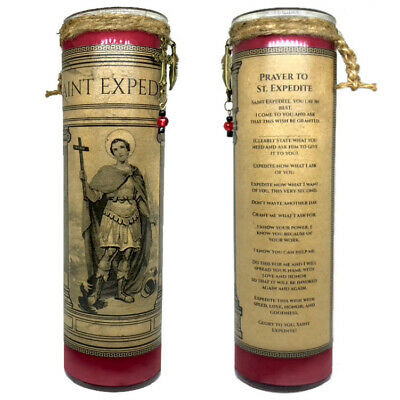 SAINT EXPEDITE 7 Day Petition Fixed Prayer Candle Fixed Dressed