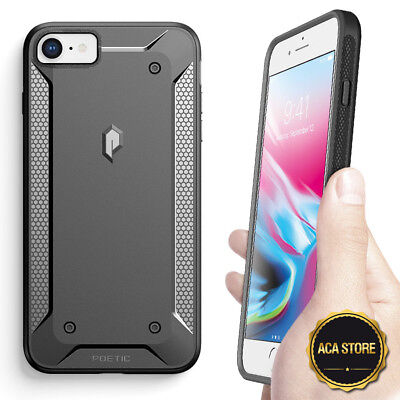 Heavy Duty Shockproof Protective PC+TPU Case For Apple iPhone 7 8 Black
