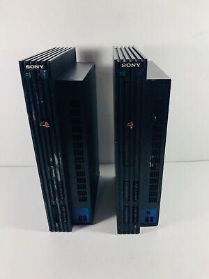 LOT OF 2 Sony PlayStation 2 PS2 Video Game Console System Fat AS-IS For Parts