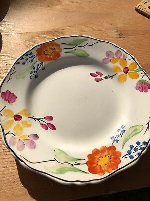 HANCOCKS IVORY WARE Corona Ware hand painted FLORAL Small Plate / Saucer