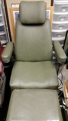 Like New Hill Podiatry Full Power Chair with Pull Out Tray & Stool