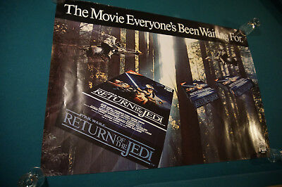 Star Wars Return of The Jedi rolled movie poster vintage 1980's video