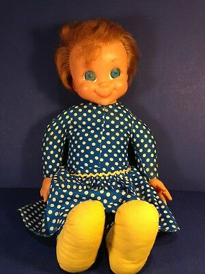 """Vintage Mattel 1967 MRS. BEASLEY DOLL Family Affair 22"""" with Apron"""