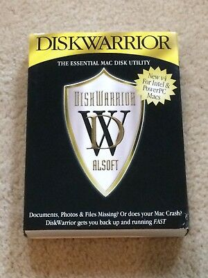 Diskwarrior 4 Dvd By Alsoft Recovery & Repair For Apple Mac Os X.