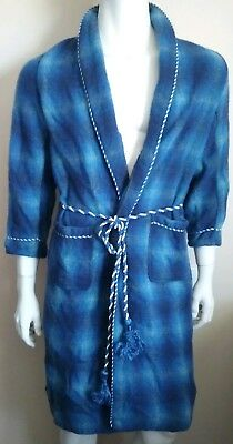 SEFTON Norwellan vintage mens size OS 100cm dressing gown pure new wool retro