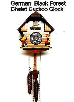 Vintage Black Forest,  Chalet Cuckoo Clock, Looks Great and running well