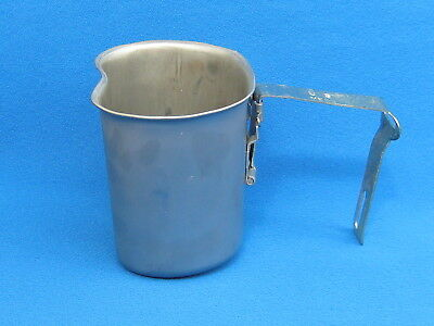 WW II  U.S.Army/ Military Canteen Cup.Stainless Steel, Made by MECC