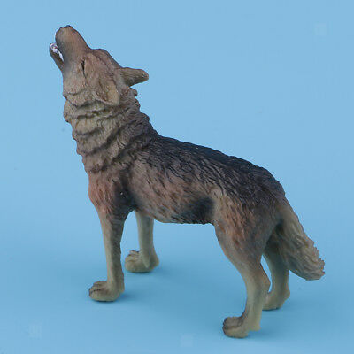 Realistic Howling Wolf Wild Animal Figurine Model Action Figure Kid Toy Gift