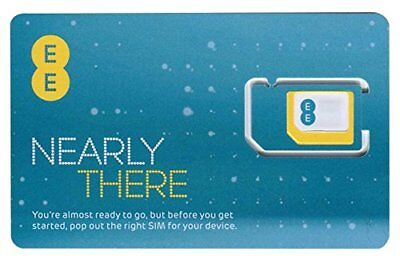 Brand New Ee Sim Card With £10 Credit
