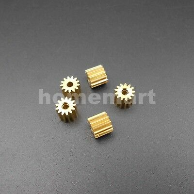 20PCS 0.4M 13T2A 13 Teeth Brass Gear 0.4 Modulus T=13 Aperture 2mm Tight DIY 13T