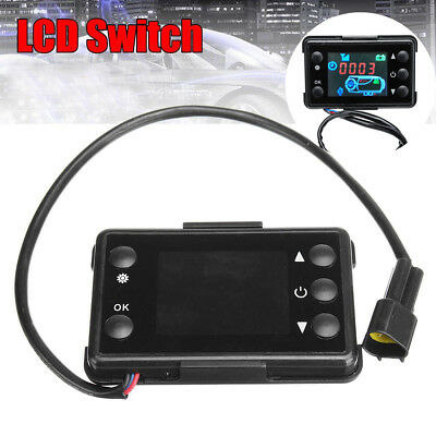 12V LCD Monitor Parking Heater Controller Switch Car Track Air Diesel Heater