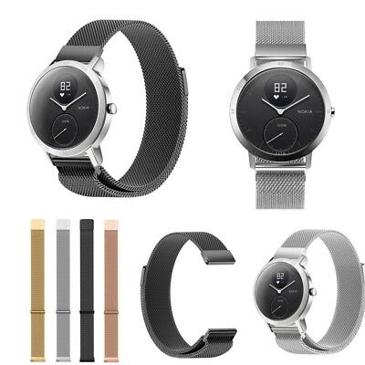 Milanese Loop Quick Release Wrist Bands Watch Strap for Nokia Withings Steel HR