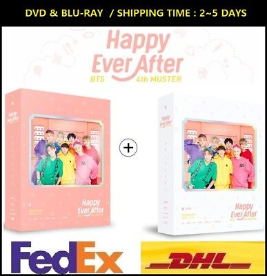 BTS 4th Muster Happy Ever After DVD+Blu-ray Set Disk+Photobook KPOP Seal Express