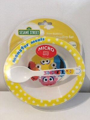 Sesame Street Infant Feeding Set - Bowl And Spoon