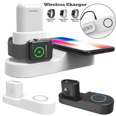 4 in1 Fast Qi Wireless Charger Charging Pad for Apple Watch iPhone X 8 Airpods