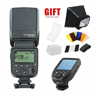 Godox TT600 2.4G HSS Camera Flash Speedlite + Xpro-P Trigger for Pentax W/ Gift