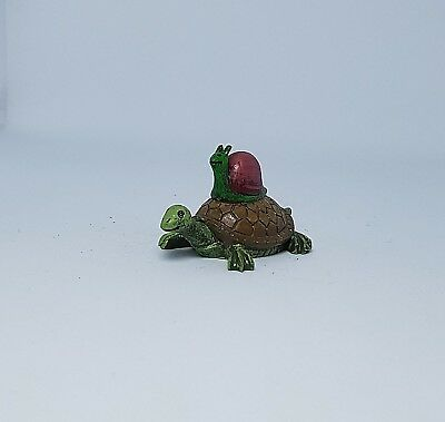 Miniature Dollhouse or Fairy Garden Turtle and Snail