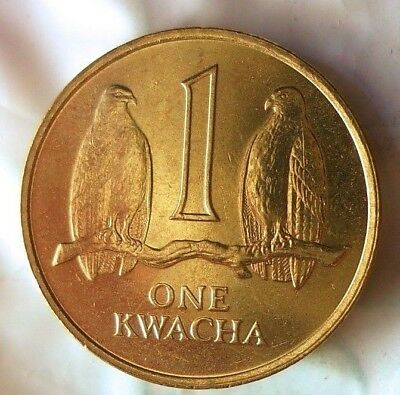 1992 ZAMBIA KWACHA - AU From Roll - Hard to Find Coin - FREE SHIPPING - BIN #LLL