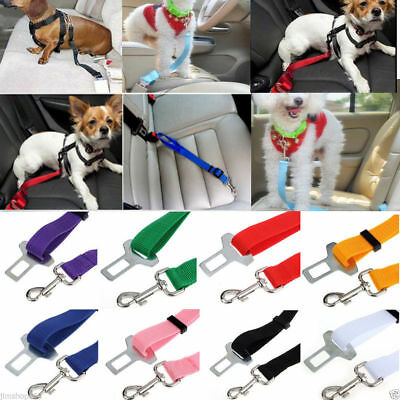 Adjustable Vehicle Car Seat Belt Seatbelt Lead Clip Pet Cat Dog Safety Protect