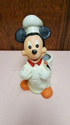 Vintage Mickey Mouse Chef Utensil Holder The Walt Disney Co. by Hoan Used
