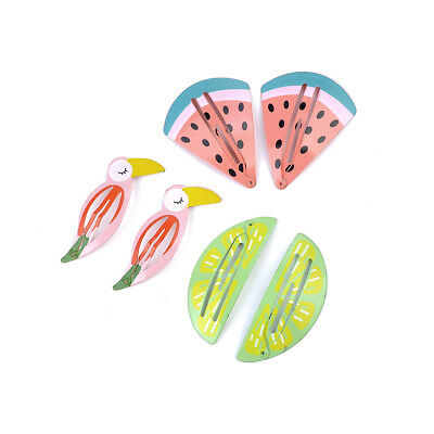 6x Cute baby Hair Clips Snaps Hairpin Girls Baby Kids Hair Bow Accessories